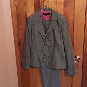 Ann Klein twill gray suit